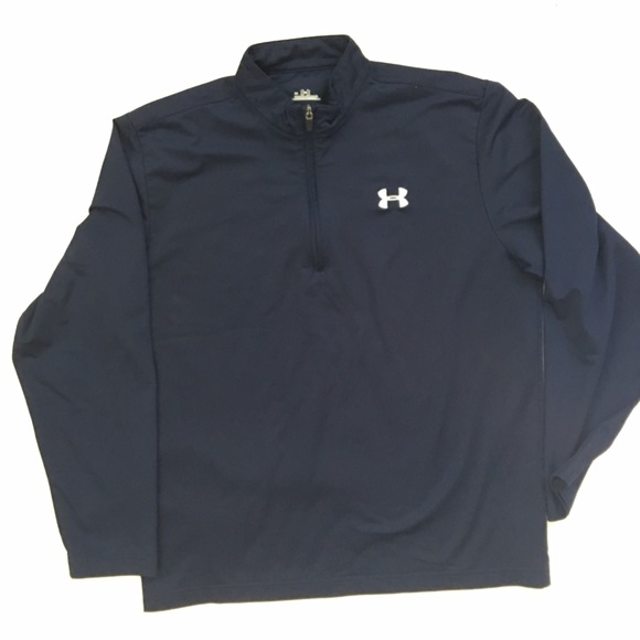 0d8c22f0f Under Armour Shirts | Quarter Zip Navy Size Large | Poshmark